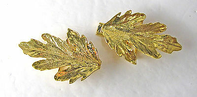 Vintage 1981 Mimi Di N Large Leaf Belt Buckle Set