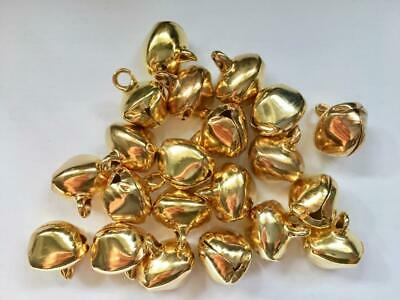 BB 14mm CHRISTMAS BELLS GOLD pk of 25 craft jingle bell xmas