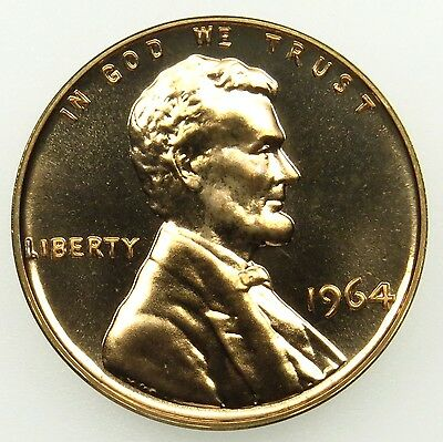 1964 Proof Lincoln Memorial Cent Penny (B03)