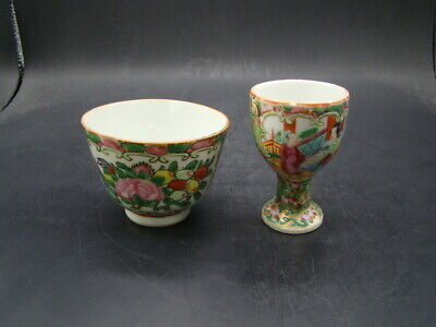 Chinese 1920's nice 2 famille rose cups  u587