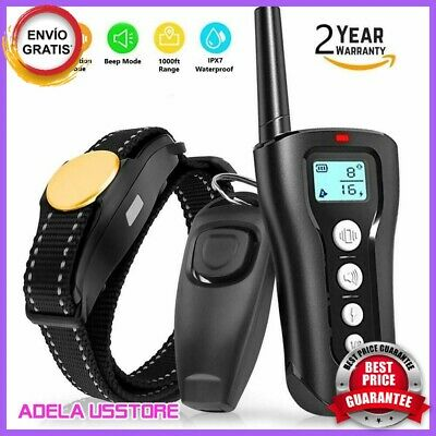 Dog Shock Collar With Remote.Waterproof Electric For Large Yard Pet Training NE