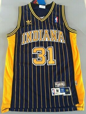 aca04b0053cb NWT Men s Reggie Miller Indiana Pacers Throwback Swingman Jersey Navy Blue  S-XXL