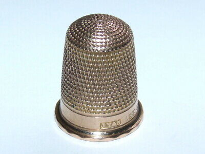 Outstanding Antique Victorian 1898 Solid 9ct Rose Gold Thimble, Superb Example!