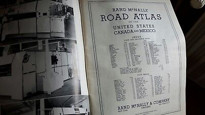 Road Atlas United States Canada Mexico 1939 McNally Bakers guide Dachbodenfund