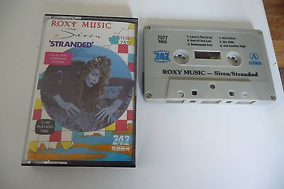 Roxy Music K7 Audio Tape Cassette Siren/Stranded 747 Rock.
