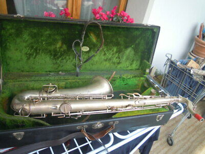 C. G. Conn Tenor Saxophone Serial # 25452 Elkhart Ind Of 1913 Sax