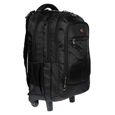 Laptop Business Trolley Tasche Notebook Piloten Koffer inklusive Rucksack Black