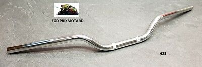 Guidon Moto Route Acier Chrome 22Mm H23 Honda