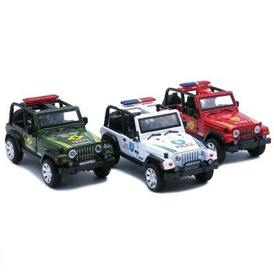 Jepp Wrangler 1:32 Police Military Fire Car Diecast Metal Model Collection Toy