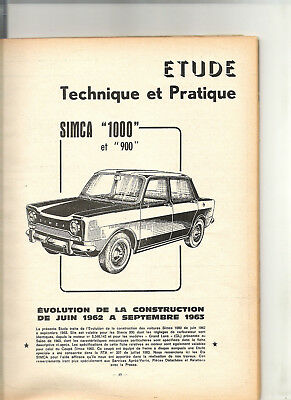 Rta Revue Technique 1964 - Simca 1000 + Peugeot 403 + Citroen Id Ds 19