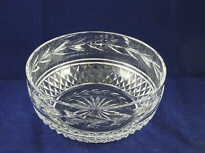 "Beautiful Waterford Crystal Glandore 8"" Round Bowl"
