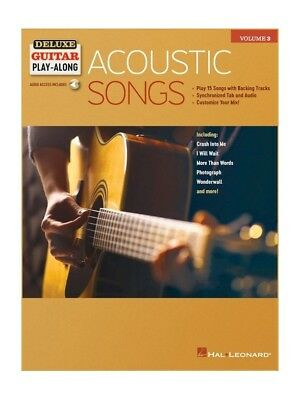 Acoustic Songs: Hal Leonard Deluxe Guitar Play-Along Vol.3 (Book & Audio Access)