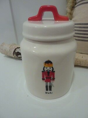 Rae Dunn Artisan Coll. by Magenta NEW Christmas NUTS Nutcracker Holiday Canister