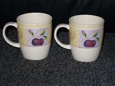 Marks And Spencer Wild Fruits Mugs X 2 Vgc