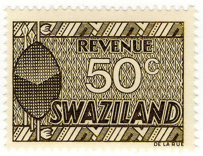 (I.B) Swaziland Revenue : Duty Stamp 50c