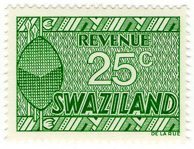 (I.B) Swaziland Revenue : Duty Stamp 25c