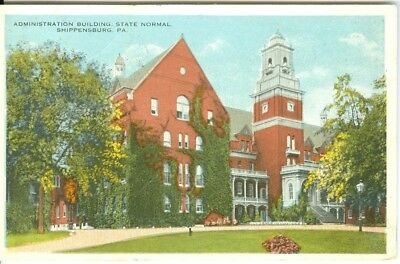 Shippensburg PA The Administration Building, State Normal School 1920