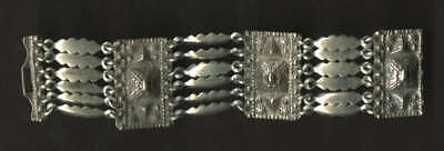 Vintage Modernist 1950s-60s Mexican Silver Childs Bracelet Heavy