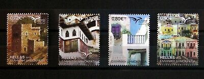 Grecia francobolli 2018 12th set, euromed traditional mediterranean houses MNH