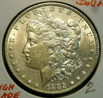 1885 Morgan Silver Dollar Nice High Grade Circulated Coin #2