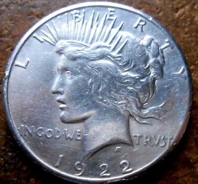 1922-S Peace Silver Dollar Nice Circulated Coin #1 With Some Small Rim Dings