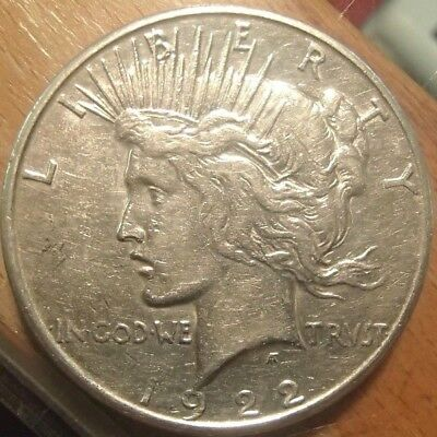1922-S Peace Silver Dollar Nice Circulated Coin #2