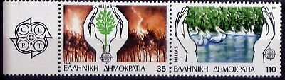 Grecia francobolli 1986, Europa cept protection of nature and enviroment, MNH