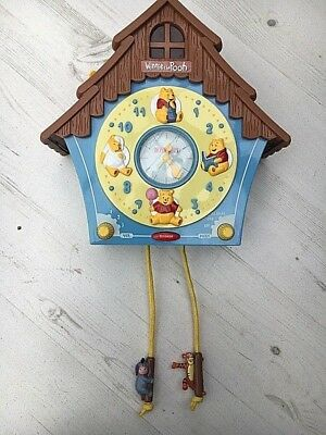 Winnie the Pooh Musical Wall Clock Disney Bontempi Good Condition