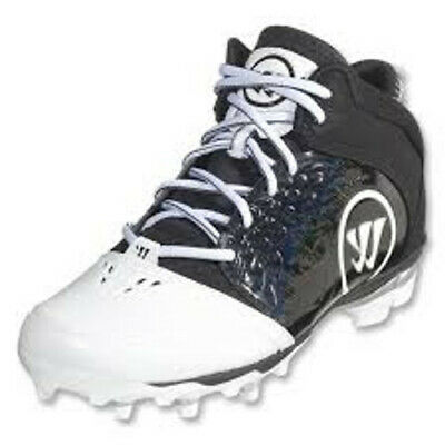 NEW Mens Warrior Adonis Lacrosse Cleats Black / White Size 13 M