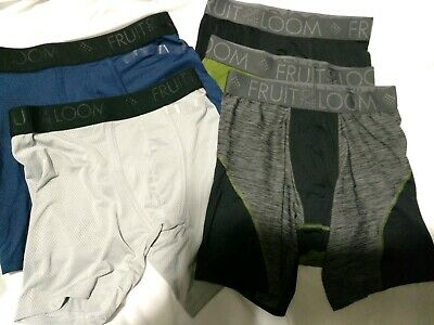 c4bc39967683 FRUIT OF THE LOOM MEN'S BREATHABLE SHORT LEG BOXER BRIEFS SMALL lot of 6  loose