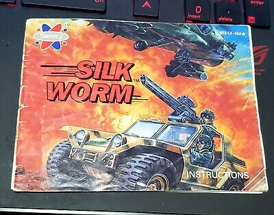 Silk Worm Instructions Manual Only Nintendo NES