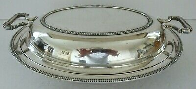 Silver Plate EPNS Art Deco Sussex Goldsmiths Co Serving Dish & Lid Tureen Tray