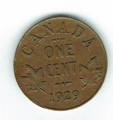 1929 Canadian Circulated George V One  Small Cent coin!