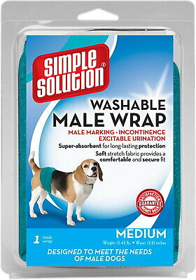 Simple Solution Male Wrap for Dogs, Washable, Medium