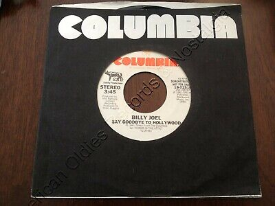 """BILLY JOEL (45) """"Say Goodbye To Hollywood"""" (Columbia) w/l PROMO .. 1981 .. NM!"""