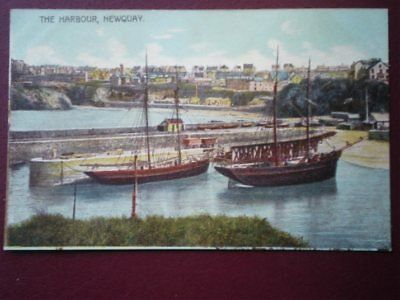 Postcard Cornwall Newquay The Harbour