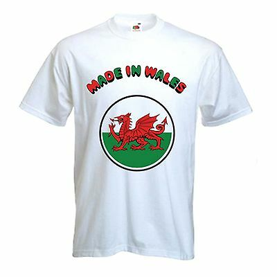 Made In Wales T-SHIRT Welshman Country Nationality Nation Welsh Gift Birthday