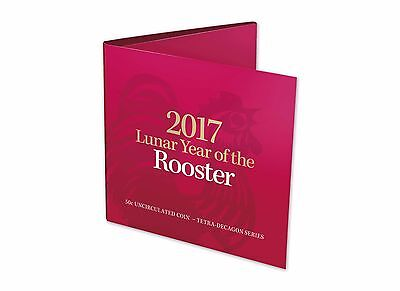 2017 Royal Australian Mint Tetra-Decagon 50c Coin - Year of the Rooster
