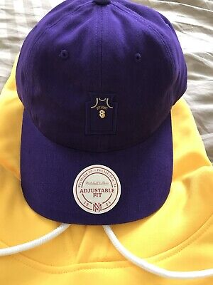 4a0fc51a8d5cc Mitchell   Ness NBA Kobe Bryant  8 Lakers Dad Hat Adjustable Strap Back