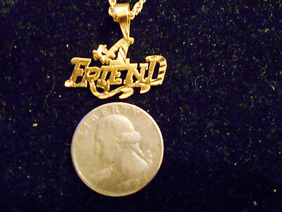 bling gold plated casino #1 friend pendant charm chain hip hop necklace JEWELRY
