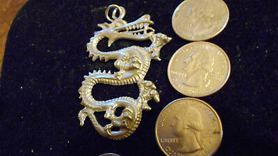 bling pewter legend MYTH chinese DRAGON pendant charm hip hop necklace jewelry