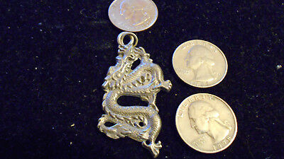 bling pewter MYTH stonehenge english CELT DRAGON pendant charm necklace JEWELRY