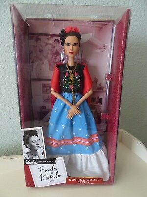 New FRIDA KAHLO Mattel Barbie Doll Inspiring Women Series Mexican Artist