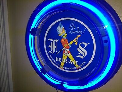 ***Fuhrmann & Schmidt F&S Beer Bar Advertising Man Cave Blue Neon Wall Sign