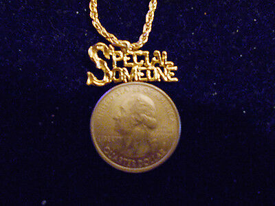 bling gold plated casino SPECIAL SOMEONE charm chain hip hop necklace JEWELRY GP