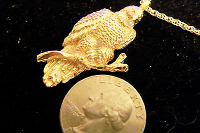 bling gold plated eagle mascot fashion pendant charm hip hop necklace jewelry gp