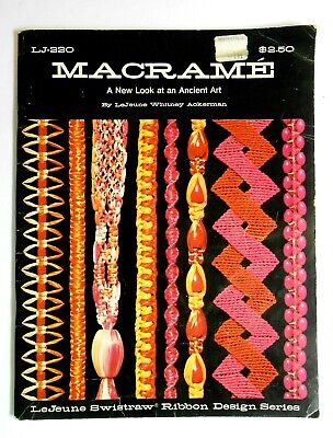 Vintage 1971 MACRAME Book by LeJeune Whitney Ackerman