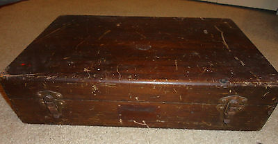 VINTAGE Wood Box WATCH REPAIR KIT - Organizer Tray - MULTI-PARTS - Stems/Winders