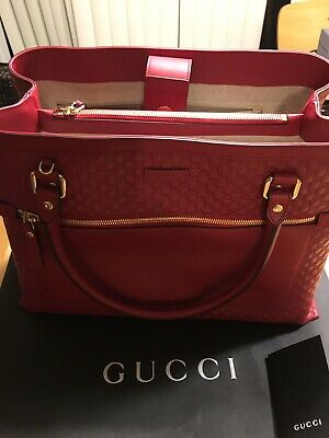 f03b2115cb41 NWT $1049 Gucci MicroGuccissima Large Soft/Margaux in Red/Rosso.  510290.BMJ1G