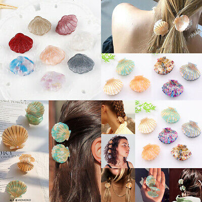 Fashion Shell Hair Clip Acetate Resin Floral Print Clips Ponytail Hairpins Gift